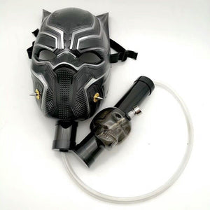 Black Panther Gas Mask Bong
