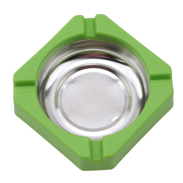 Stainless Steel Silicone Cigarette Ashtray