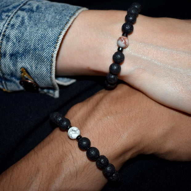 Bracelet couple pierre