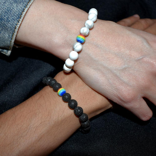 Bracelet couple raimbow