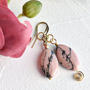 Rhodonite Mismatched Earrings