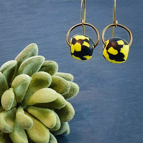 Patterned Krobo Swing Signature Earrings (Choice of Pattern) - Afrocentric jewelry
