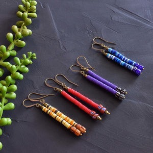 African Stix Multi-Colored Earrings (Choice of Colors)