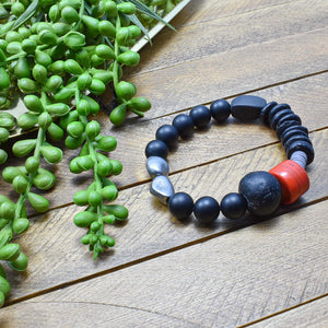 Eruptions No. 1 African Beaded Bracelet