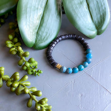 Load image into Gallery viewer, Apatite and African Beaded Bracelet