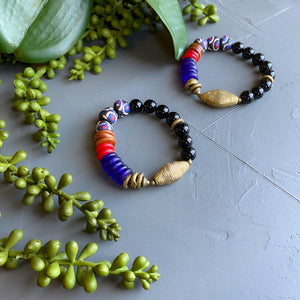 Black and Blue Wound  Bracelet