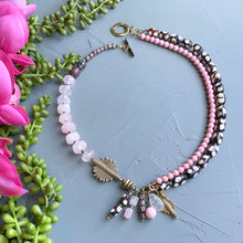 Load image into Gallery viewer, Rose Quartz Helix Statement Necklace