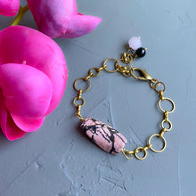 Load image into Gallery viewer, Rhodonite Charm Bracelet