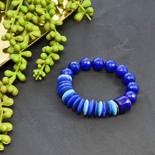 Load image into Gallery viewer, Blue African Beaded Bracelet