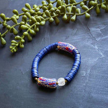 Load image into Gallery viewer, Navy African Beaded Bracelet