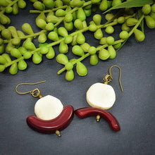 Load image into Gallery viewer, Summer C-Saw Abstract Tagua Earrings (Limited Edition) - Afrocentric jewelry