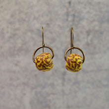 Load image into Gallery viewer, Patterned Krobo Swing Signature Earrings (Choice of Pattern) - Afrocentric jewelry