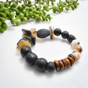 Eruptions No. 3 African Beaded Bracelet