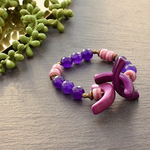 Load image into Gallery viewer, XXO Bracelet- Purple - Afrocentric jewelry