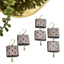 Load image into Gallery viewer, Quilted Earrings