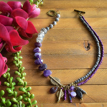 Load image into Gallery viewer, Amethyst Helix Afrobohemian Necklace