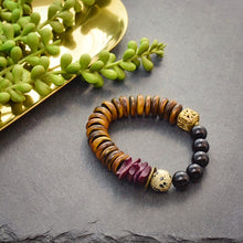 Load image into Gallery viewer, Tonal Bracelets with Coconut Shell and African Beads - Afrocentric jewelry
