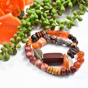 Candy String: Double Wrap Orange African Bracelet