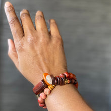 Load image into Gallery viewer, Candy String: Double Wrap Orange African Bracelet