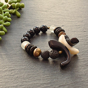XXO Bracelet- Black and White - Afrocentric jewelry