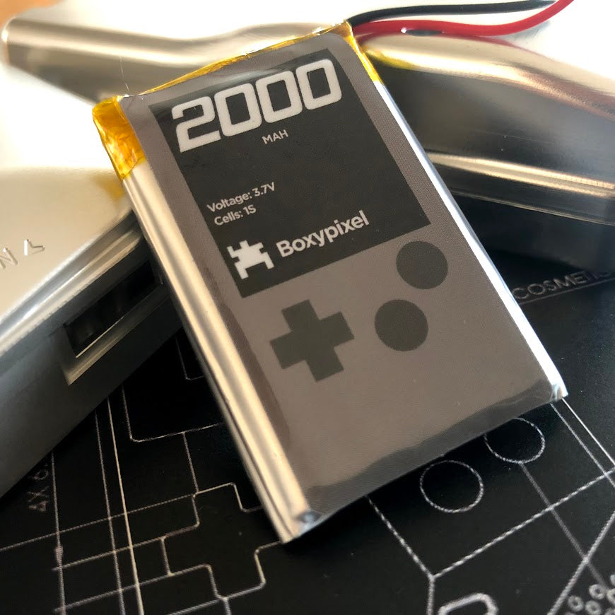 Rechargable 2000mAh Battery for Custom Game Boy Build