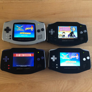 Custom Built Game Boy Advance with Backlit IPS screen and Aluminum Shells