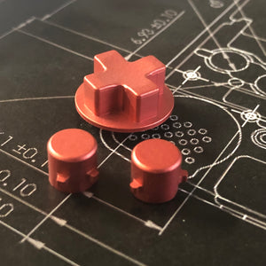 Game Boy Advance Machined Buttons and Directional Keypad