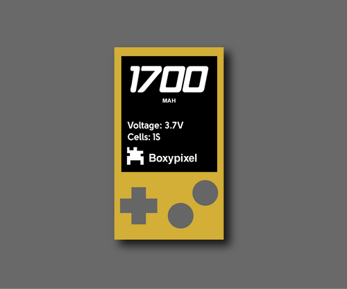 Rechargable 1700mAh Battery for Custom Game Boy Build