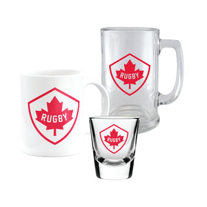 3pk Rugby Canada Fan Glass Set