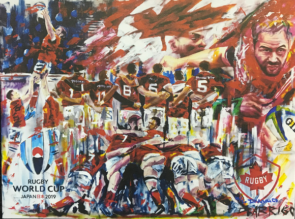 Rugby World Cup Painting