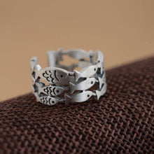 Load image into Gallery viewer, Silver Fish Ring Resizable - hope2shop