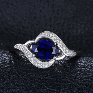 1.1ct Blue Sapphire Statement Ring For Women - hope2shop