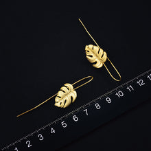 Load image into Gallery viewer, Sterling Silver Handmade Monstera Leaves Design Earrings for Women - hope2shop