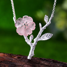 Load image into Gallery viewer, Sterling Silver Handmade Flower in the Rain Necklace - hope2shop