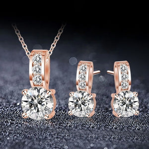 Silver Wedding Jewelry Sets