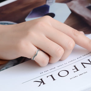Retro 925 Sterling Silver Open Rings for Women