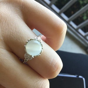 Moonstone Wedding Rings
