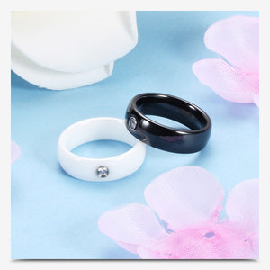 Crystal Wedding Band Rings For Men And Women