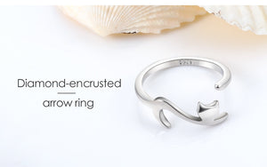 Romantic Long Tail Cat Rings for Women Girl