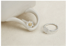 New arrival silver plated ring for women Daisy flower wedding ring Chrysanthemum engagement jewelry Adjustable size