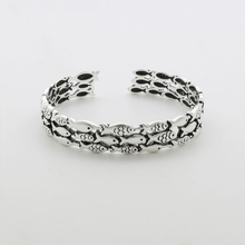 Load image into Gallery viewer, Silver Fish Bracelet & Ring Set - Resizable - hope2shop