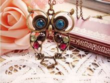 Load image into Gallery viewer, Vintage Hollow Cute Owl Pendant/Necklace