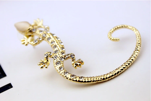Luxury Gecko Lizard Stud Earrings