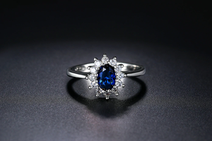 ZHOUYANG Princess Kate Blue Gem Created Blue Crystal Silver Color Wedding Finger Crystal Ring Brand Jewelry for Women ZYR076 - hope2shop