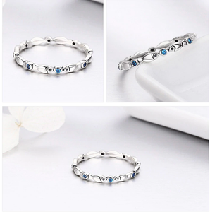 Silver Stackable Fish Rings