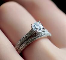 Perfect Round Cut Zircon Stone Rings for Female