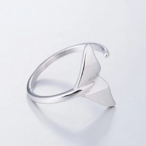 Silver Fish Tail Cuff Rings