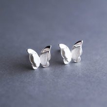 Load image into Gallery viewer, Silver Prevent Butterfly Earrings