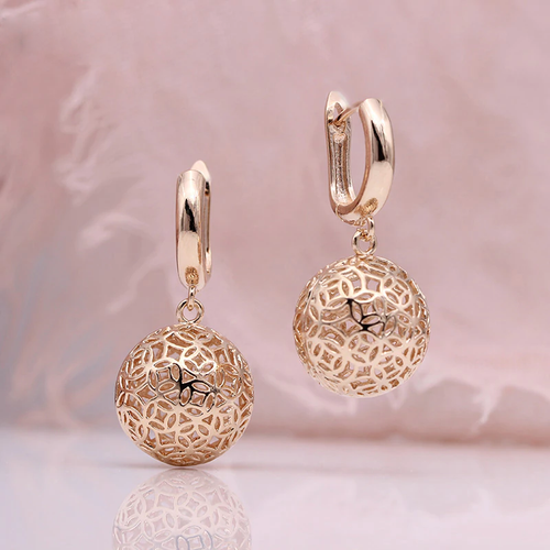 Rose Gold Long Dangle Earrings
