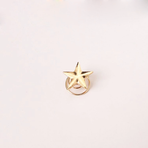 Gold Small Star Head Jewelry Spring  Hairpin Clip